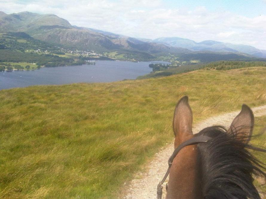horse riding lake district